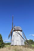 Windmill Riddargardskvarnen, Peninsula Kallandsö, Lake Vänern, Västergötland, Götaland, South Sweden, Sweden, Scandinavia, Northern Europe, Europe