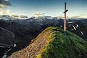 Peak of the Seefeldspitz in Meransen, South Tyrol, Italy