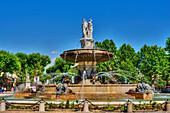 Fountain de la Rotonde at Place du General du Gaulle, Cours Mirabeau, Aix-en Provence, Bouches-du-Rhone, Provence-Alpes-Cote d'Azur, France