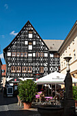 timber framed house of a merchant, Weimar, Thuringia, Germany
