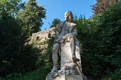 William Shakespeare memorial, park ruin, Park an der Ilm, Weimar, Thuringia, Germany
