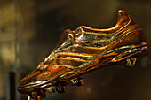 Messi Space, golden boot, top scorer in European leages of the year award, FC Barcelona Museum, Camp Nou, Barcelona, Catalunya, Catalonia, Spain, Europe