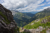 Kleiner Pal, Austria. Going up to the Austro Hungarian Empire front line.