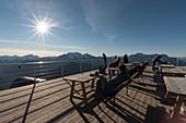 Lagazuoi mount, Falzarego Pass, Cortina d'Ampezzo, Dolomiti, Dolomites, Belluno, Veneto, Italy. Lagazuoi's refuge