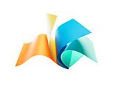 Verschiedene farbige Papierblätter, Papier