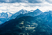 A mountain slope in the sunlight with mountain scenery, Kitzbühel Alps, Kitzbühel, Tyrol, Austria