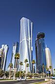 Qatar , Doha City, Al Bidda Tower ,World Trade Center and Burj Katar Bldgs.