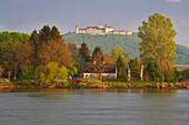 Stift Göttweig bei Krems , Abendsonne , Donau , Wachau , Bundesland Niederösterreich , Österreich , Europa