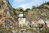 Rock-Hewn Churches and monastery at Bassarbovo , Near Russe (Pyce) , River Danube , Bulgaria , Europe