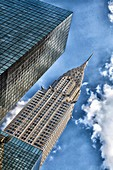 Looking up at the Chrysler Building in Manhattan.