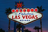 Welcome To Fabulous Las Vegas Neon Sign The Strip Las Vegas Nevada Usa.