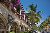 Mediterranean Style Shopping Arcade Worth Avenue Palm Beach Florida Usa.