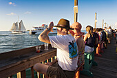 USA, Florida, Florida Keys, Key West, Mallory Square, daily sunset party, NR.