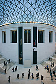 England, London, Bloomsbury, The British Museum, The Great Court by architect Norman Foster, the largest covered square in Europe.