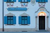 Germany, Bavaria, Hohenschwangau, Zur Alpenrose guesthouse, dawn.