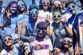 People. The Color Run Festival. Barcelona. Catalonia. Spain.