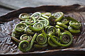 Fiddlehead ferns, wild edible