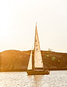 Sail boat, Grebbestad, bohuslan region, west coast, Sweden.