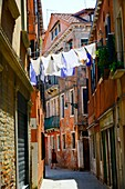 Hanging Laundry Castello Venice Italy IT Europe EU.