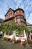 Picturesque 14th century Altes Haus (Old House) in Bacharach, Rhineland-Palatinate, Germany, Europe