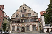 The beautiful historic Old Town Hall in Lindau, Bavaria, Germany, Europe