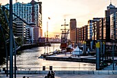 District of Hafencity, the most modern urban developtment at Europe, Hamburg, Germany.