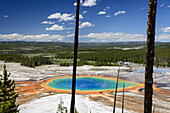 Grand Prismatic Spring as seen from above. Part of the Midway Geyser Basin in Yellowstone National Park.