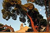 Franciscan monastery and church of Our Lady of Grace, Hvar city, Hvar island, Croatia, Southeast Europe.