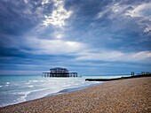 The remains of West Pier at Brighton and Hove, East Sussex, England.