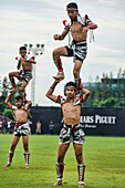 Muay Thai fighting demonstration at the King´s Cup Polo Tournament in Bangkok, Thailand.