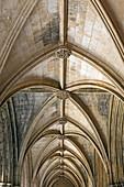 Cloister of King Afonso V, built 1438 - 1481, monastery of Santa Maria de Vitoria, aka Batalha monastery (14th - 16th century), World Heritage of UNESCO, Batalha,District Leiria, Portugal, Europe.