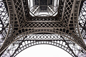 Eiffel Tower seen from below, Champ de Mars, Paris, Ile-de-France, France