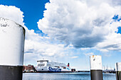 The ferryboat to Gothenburg in Sweden in the harbour, Kieler Foerde, Kiel, Schleswig Holstein, Germany