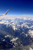 Luftaufnahme vom östlichem Inntal mit Achensee, Tirol, Österreich
