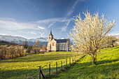 Church of Saint Bernard, Natural Park of Le Chartreuse, Isère, Rhône-Alpes, France.