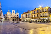Townhall and Mayor Square in Astorga, Way of St. James, Leon, Spain.