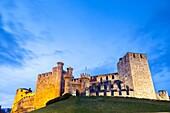 Los Templarios Castle in Ponferrada, Way of St. James, Leon, Spain.