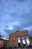 The Brandenburg Gate, Berlin, Germany.