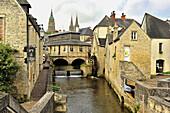 L´Aure River, Bayeux, Calvados Department, Normandy, France.