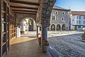 Bielsa council Historic building. Pineta Valley, Huesca Pyrenees, Aragón, Spain.