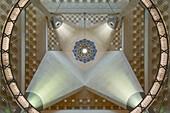 Doha. Qatar. Museum of Islamic Art designed by I.M.Pei. Interior apex of the atrium.