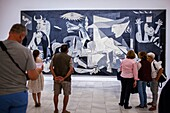 The ´Guernica´ painting by Picasso, Reina Sofia National Art Museum, Madrid, Spain.