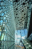 Harpa is a concert hall and conference centre in Reykjavík Iceland. The opening concert was held on May 4, 2011. The structure consists of a steel framework clad with geometric shaped glass panels of different colours.