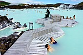The Blue Lagoon geothermal spa is one of the most visited attractions in Iceland. The spa is located in a lava field in Grindavik on the Reykjanes Peninsula, southwestern Iceland. Blue Lagoon is situated approximately 20 km 12 mi from the Keflavík Interna