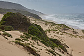 Dunes at the Indian Ocean in iSimangaliso-Wetland Park, South Africa, Africa