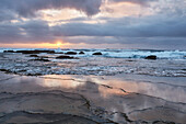 Sunrise at the Indian Ocean in iSimangaliso-Wetland Park, South Africa, Africa