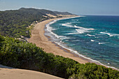 Dunes along the Indian Ocean in iSimangaliso-Wetland Park, South Africa, Africa