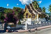 Asia. South-East Asia. Laos. Province of Luang Prabang, city of Luang Prabang, World heritage of UNESCO since 1995. Royal Palace National Museum, Wat Ho Pha Bang.