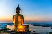 Asia. South-East Asia. Laos. Province of Champassak. Pakse. The big golden Buddha.