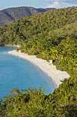 Trunk Bay and Beach on the Caribbean Island of St John in the US Virgin Islands.